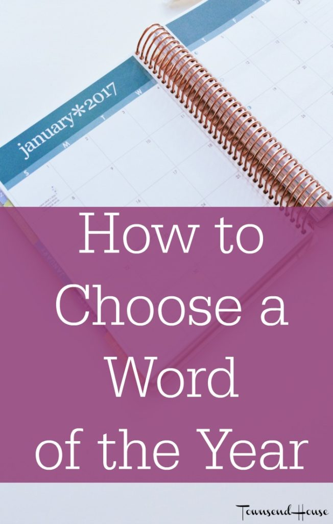 Reflections on choosing just one word to guide your year