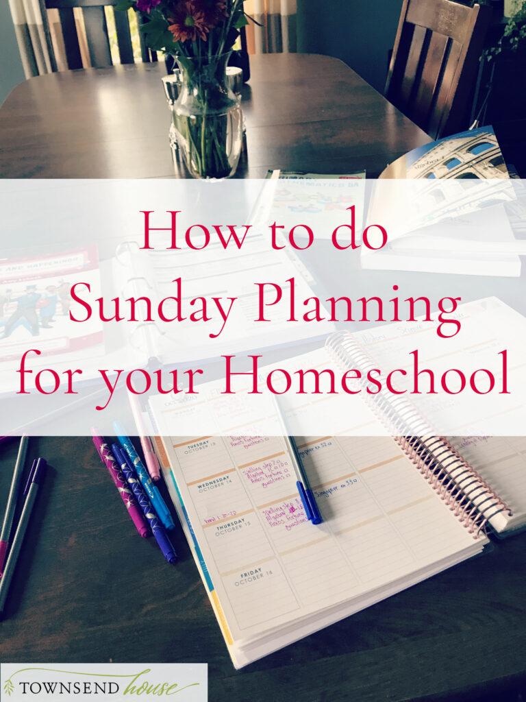 Sunday Planning Homeschool