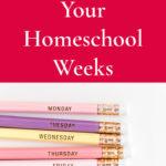 Planning Your Homeschool Weeks – 31 Days