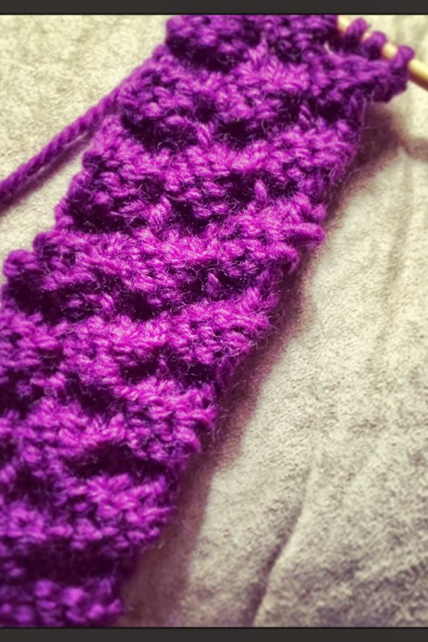 knitting but not reading