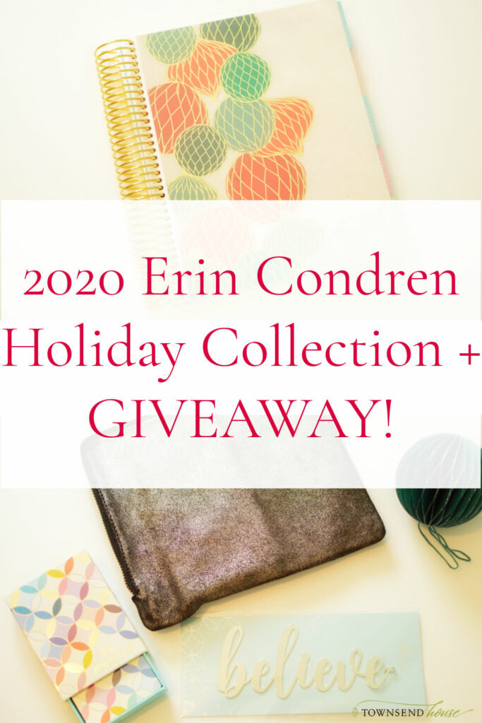 2020 Erin Condren Holiday Collection plus a giveaway!