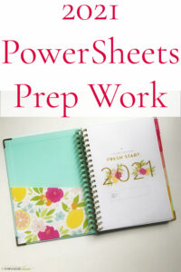 2021 PowerSheets Prep Work