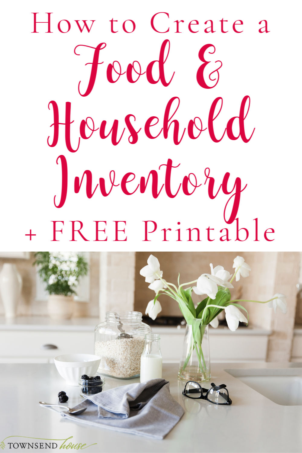 Learn how to create a food and household inventory and why it is important.  Plus grab a FREE Printable to help you start your new Food and Household Inventory!