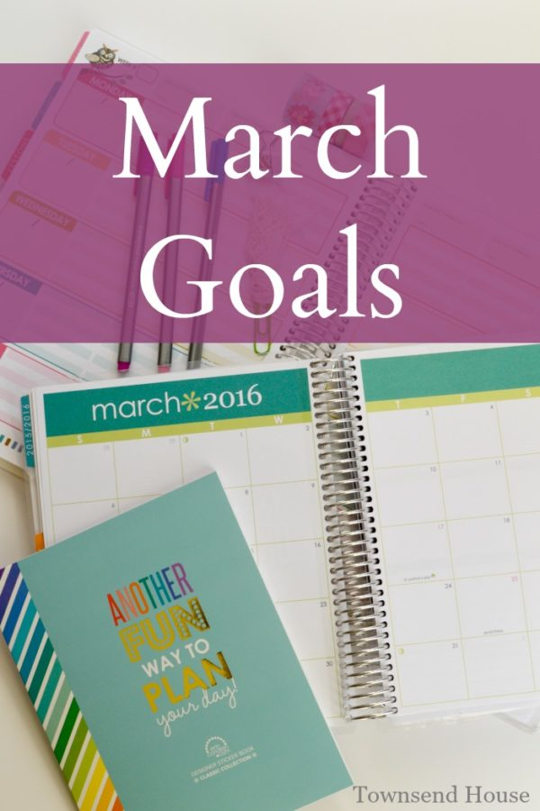Creating a Plan for the month of March