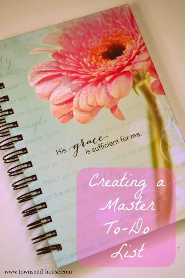 Creating a Master To-Do List