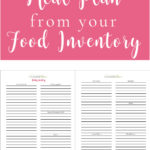 How to Meal Plan from your Food Inventory