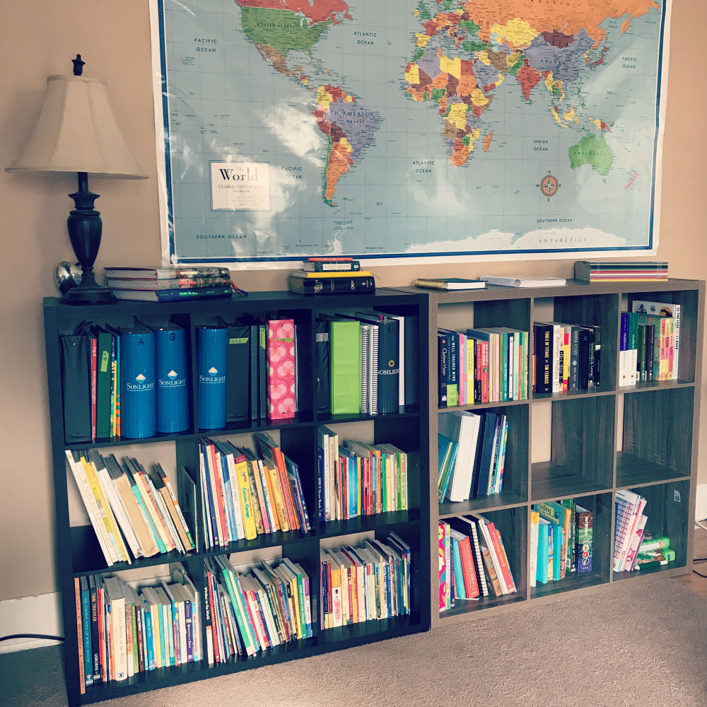 Homeschool Bookshelves