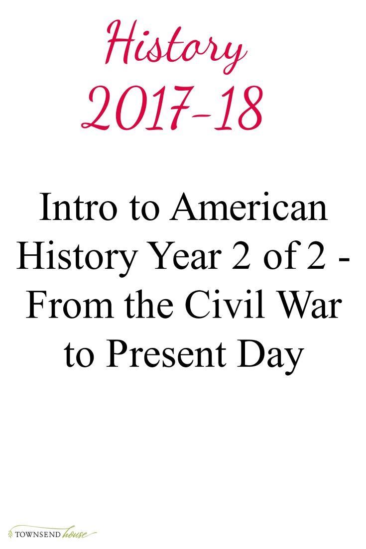 Homeschool Portfolio History Cover Page