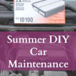 Summer DIY Car Maintenance