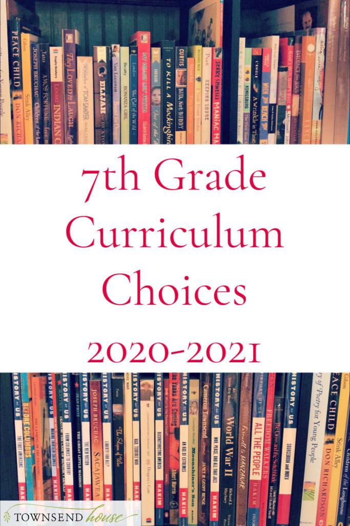7th Grade Curriculum Choices 2020-2021