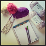 not so much knitting – but planting and reading