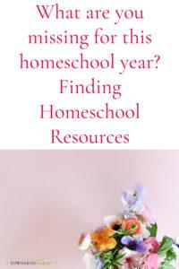 Missing Homeschool Curriculum