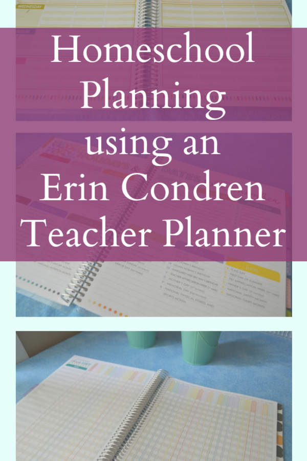 Homeschool Planning – Using an Erin Condren Teacher Planner