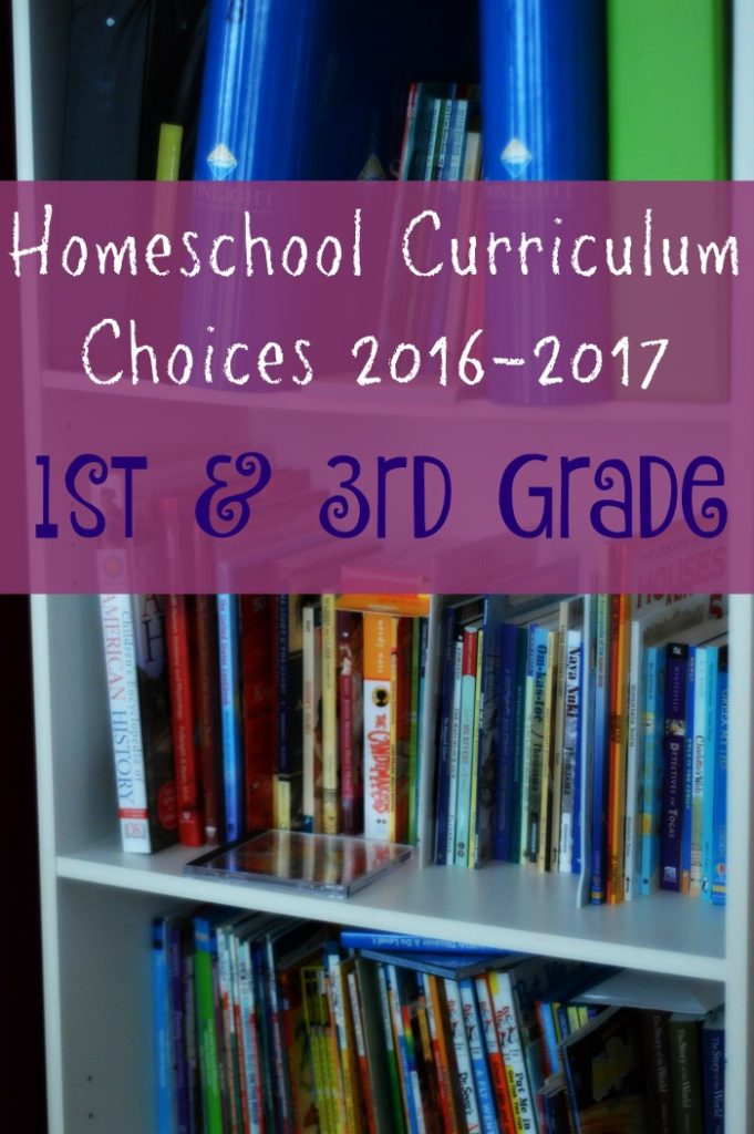 Homeschool Curriculum Choices for 1st and 3rd Grade - Townsend House