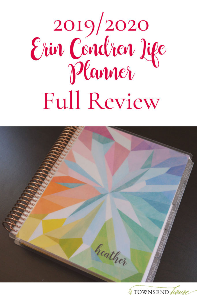 Erin Condren Life Planner Review and Walkthrough for 2019-2020