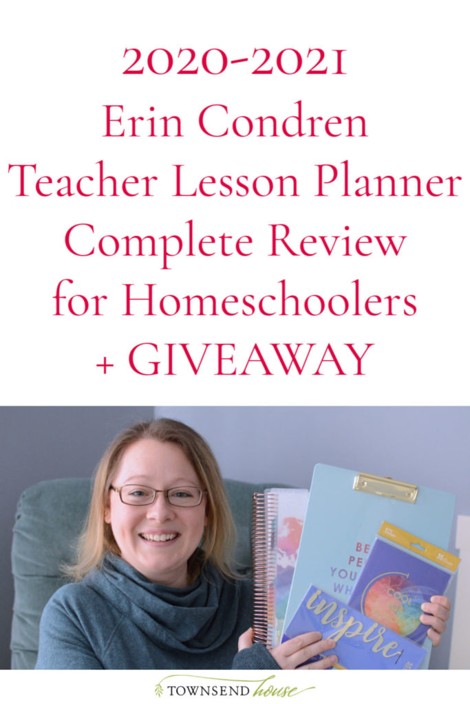 2020-2021 Erin Condren Teacher Lesson Planner Review for Homeschoolers