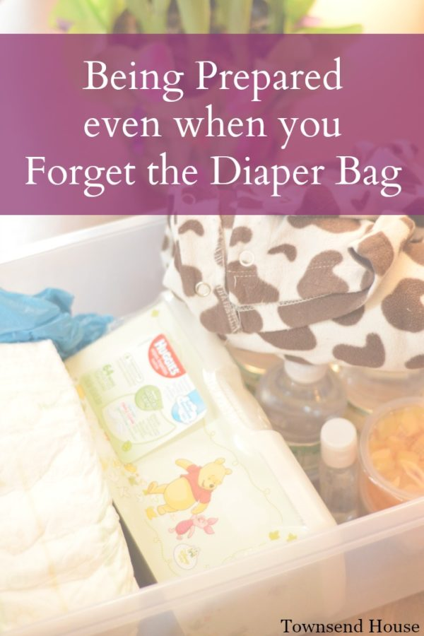 Being Prepared even when you Forget the Diaper Bag