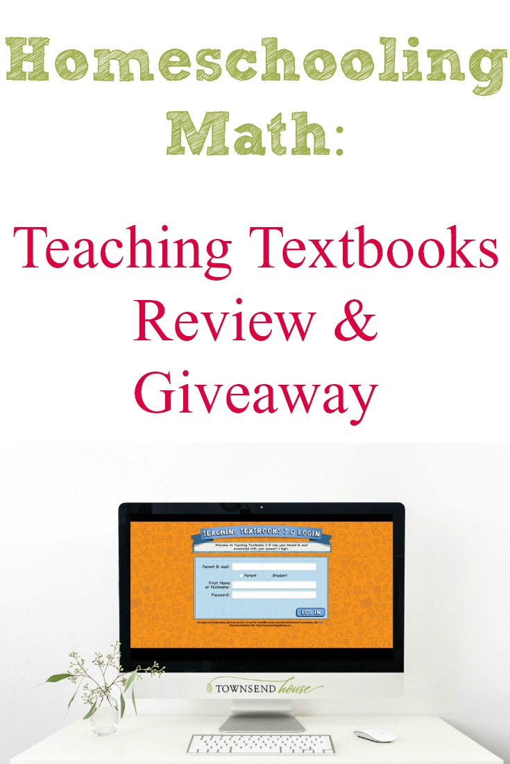 Homeschooling Math: Teaching Textbooks 3 0 Review - Townsend