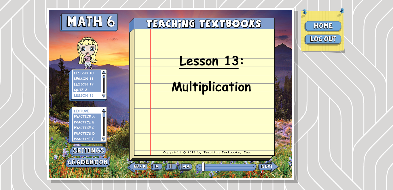 Teaching Textbooks 3.0 Lesson