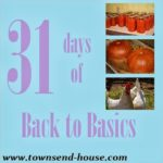{31 Days} Back to Basics Day 1