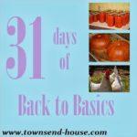 {31 Days} Back to Basics Introduction