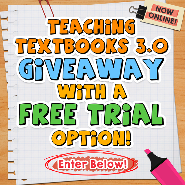 Teaching Textbooks 3.0 Giveaway