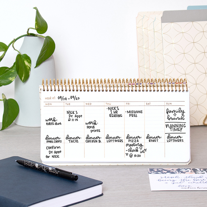 Erin Condren Weekly Schedule Pad